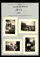 56 - BELZ - 7 Petites Photos - Colonie De Vacances - 1950 - Lieux