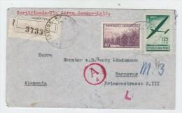 Argentina/Germany REGISTERED LATI COVER 1941 - Storia Postale