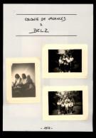 56 - BELZ - 6 Petites Photos - Colonie De Vacances - 1950 - Lieux