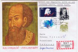 D+ Deutschland 1986 Mi 1272 1285 1286 Kokoschka Liszt Frieden Auf Kuvert An Milovan Djilas (UNIKAT / ÙNICO / PIÉCE UNIQU - [7] Repubblica Federale