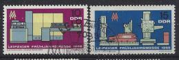 Germany (DDR) 1966  Leipziger Fruhjahrsmesse  (o)  Mi.1159-1160 - Gebraucht