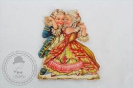 Children Dancing Victorian Die Cut/ Scrap Paper - Otros