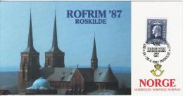Norway A01 Exhibition Card 1987 Roskilde Denmark - Noorwegen