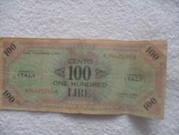 Billet De 100 Lire De 1943 Serie A - [ 1] …-1946 : Koninkrijk