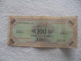 Billet De 100 Lire De 1943 Serie A - [ 1] …-1946 : Royaume