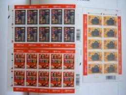 België Belgique 2003 Het Boek Le Livre écrire Imprimer Lire 3 Feuilles 3218-3220 Yv 3207-3209 MNH ** - Feuillets