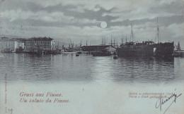 Rijeka, Gruss Aus Fiume, Hafen U. Schiwwendes Dock, Croatia 1919 - Croatia