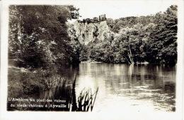 """AYWAILLE -  Carte-photo édition """"Lima"""" - L´Amblève Au Pied Des Ruines Du Vieux Château à Aywaille - Aywaille"""