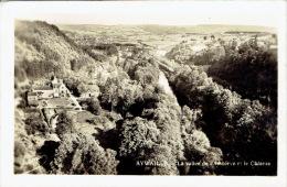 """AYWAILLE -  Carte-photo édition """"Lima"""" - La Vallée De L´Amblève Et Le Château - Aywaille"""
