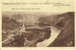 COMBLAIN-AU-PONT - L´Ourthe à Son Confluent Avec L´Amblève -  Gare De Rivage - Hôtel De La Ferme En Face De La Gare - Comblain-au-Pont