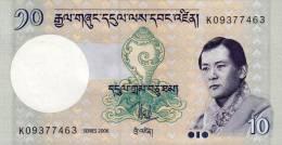 BHUTAN 10 NGULTRUM BANKNOTE 2006 PICK-29 UNCIRCULATED UNC - Bhután