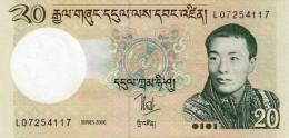BHUTAN 20 NGULTRUM BANKNOTE 2006 PICK-30 UNCIRCULATED UNC - Bhoutan