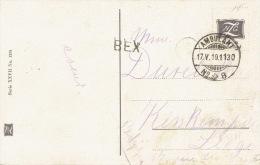 Ambulant N°8 + Griffe BEX Sur Carte Postale Illustrée Vers LIEGE (BELGIQUE) 1910 - Marcophilie
