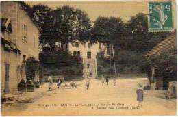 Orchamps - La Gare, Prise Au Bas Des Escaliers (Cp Toilée)(Jeannot édit.) - Autres Communes