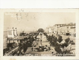 Guayaquil Real Photo Paseo De La Rotonda Circulada 1934 - Equateur