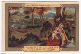 Chromo Chocolat POULAIN Musée Du Louvre Repos De La Sainte Famille Dominiquin N°40 - 471 - Poulain