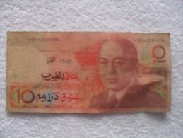 Billet De 10 Dirhams Bank Al  Maghreb - Maroc