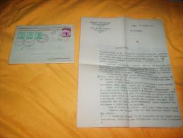 ENVELOPPE + LETTRE DE 1938. / ORGANISATION DES CHASSEURS BULGARES SOKOL. / SOFIA A VERSAILLES / CACHETS + TIMBRES. - 1909-45 Royaume