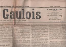 LE GAULOIS 22 03 1904  PELLETAN - CHEF DE LA SURETE MACE / CAUBET FRANCS-MACONS - BARON DE ROSEN MARSEILLE - ST GREGOIRE - Journaux - Quotidiens