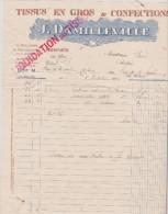 (ILLE ET VILAINE)RENNES,tissus En Gros ,J  DAMILLEVILLE , Rue Lenée - Textile & Vestimentaire