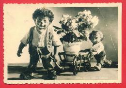 155910 / MECKI -  Alles Gute, Alles Schöne!, Ride A Cart Pots Of Flowers - REAL PHOTO 1962 Publ. Germany Deutschland All - Mecki