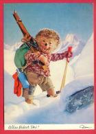 155917 / MECKI - SPORT Skiing Ski Sci Skifahren Skien ALLES FÄHRT SKI - 327  DIEHL FILM MUNCHEN Germany - Mecki
