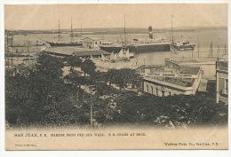 Puerto Rico San Juan Harbor From Old Sea Wall S.S. Coamo At Dock Edit Waldrop Tuck - Puerto Rico