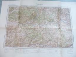 Carte Sce Géographique Des Armées : BERGERAC - 1 / 200 000ème - 1909. - Cartes Routières