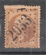 Empire N° 21 , Obl GC 2033 De LICQ ARTHEREY, Basses Pyrénées Atlantiques, Indice 18, TB, RARE - 1862 Napoleon III