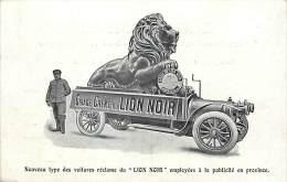 Ref C457- Publicité Cirage Creme Du Lion Noir - Voiture Automobile - Theme Cirage - Chaussures -carte Bon Etat  - - Publicité