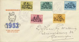 E11 - Met Adres / Open Klep (CW = € 150,-) - FDC
