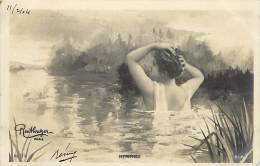 Ref C431-femme - Artiste A Identifier - Nymphes - Montage Photo Reutlinger A Paris -theme Femmes   -carte Bon Etat - - Femmes