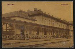 HUNGARY ROMANIA 1913 Petrozseny / Petrosani - Railway Station,REAL PHOTO Pc - Roumanie
