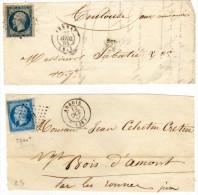ARREAU - ARBOIS - 2 Devants De Lettre Avex PC 138 & 101 Sur Yvert 14 A & A4 Af- 1 Adressée A BOIS D'AMONT (73378) - Marcophilie (Lettres)