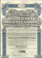 ANVERS TERHAGEN BRIQUETERIES & ATELIERS LANDUYDT  Part Social N° 035642  31.03.1919  -  6.10.1944 - Actions & Titres