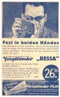 Original Werbung - 1935 , Voigtländer Kamera , Photographie , Camera !!! - Fotoapparate