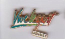 Pin's  RENAULT VIVE LE SPORT  Signe A B - Renault