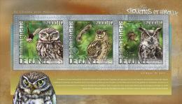 gu14215a Guinea 2014 Birds Owl s/s