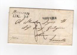 PRE22- 24 Luglio 1850 - Tassata Regno Sardo 4 Soldi Da Missaglia A Lomello (PV). Annullo Non Comune - Italia