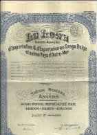 ANVERS  LA LOWA S A D'impmortation & D'exportation Au Congo Belge Et Autres Pays D'Outre-Mer  Avoir Social  N° 378,420 - Actions & Titres