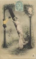 Ref C415- Femme  Et Enfants- Lettre  N - Alphabet - Theme Lettres - Femmes -enfants - Montage Photographique - - Femmes