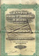 BRUXELLES  BANQUE AGRICOLE Et COMMERCIALE De BELGIQUE  Action Ordinaire N° 002563   11.12.1935 - Actions & Titres
