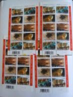 België Belgique 2003 Mineraux Calciet Kwarts Bariet Galeniet Planche 1-2-3-4 Feuillet 3174-3178 Yv 3174-3178 MNH ** - Feuillets