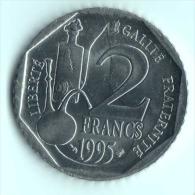 ** 2 FRANCS LOUIS PASTEUR 1995 SUP **