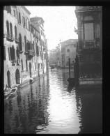 V1712 - ITALIE - VENISE - Canal - Gondole - Plaque Photo Originale à Ne Pas Manquer - Plaques De Verre