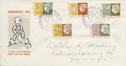 E15 - Met Adres / Open Klep (CW = € 120,-) - FDC