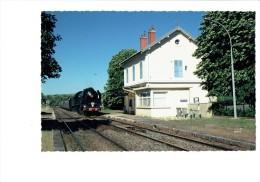 21 - SANTENAY LES BAINS - 1999 Train LOCOMOTIVE 241 P 17  En Provenance Du CREUSOT - S.N.C.F. Gare Voie Ferrée - France