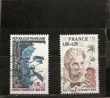 France 1974 Oblitéré N° 1823 & 1824  Personnages Célèbres - Usati