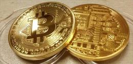 1oz .999 Fine Gold Plated Bitcoin Commemorative Coin - Coins