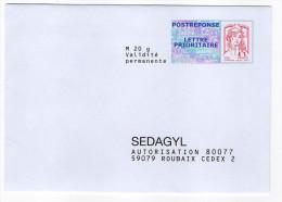 PAP Réponse Ciappa-Kavena--SEDAGYL  14P217  --intérieur NF 316/12--PAP NEUF - Postal Stamped Stationery